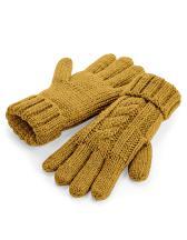 Cable Knit Melange Gloves